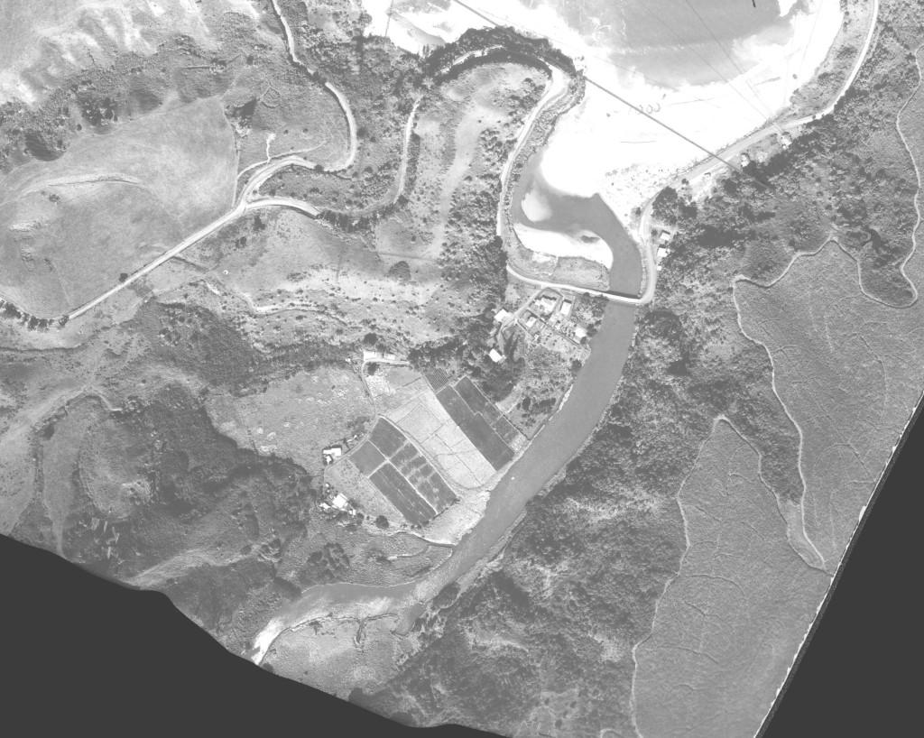 Kalihiwai (1950) before the Kuhio Highway (source: UH SOEST).