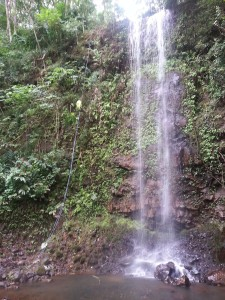 Rappel in Lower Falls